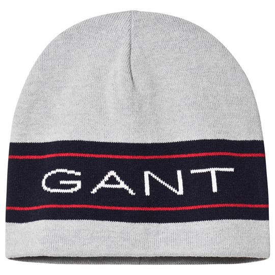 GANT Grey and Navy Archive Knit Beanie 94
