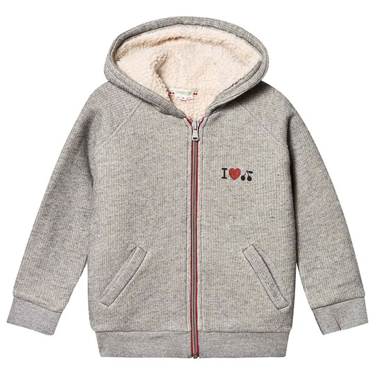 Bonpoint Sherpa Lined Hoodie Grey 192