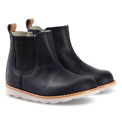 Clarks Crown Halo Boots Navy Leather