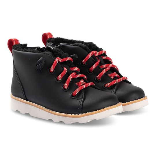 Clarks Crown Tor Boots Black Leather Black Leather