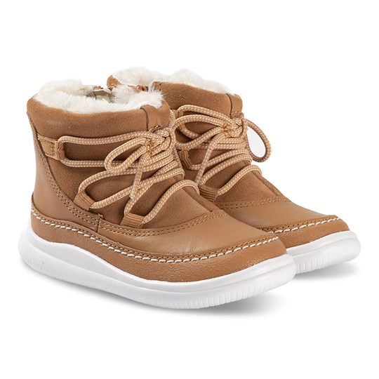 Clarks Cloud Alpine Lace Up Boots Tan Tan Suede