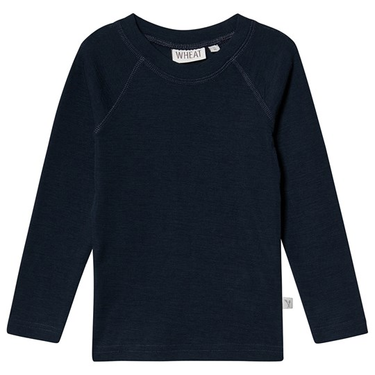 Wheat Ull T-Shirt Marinblå Navy