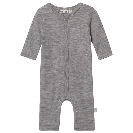 Wheat Plain Wool Jumpsuit Melange Grey Melange Grey
