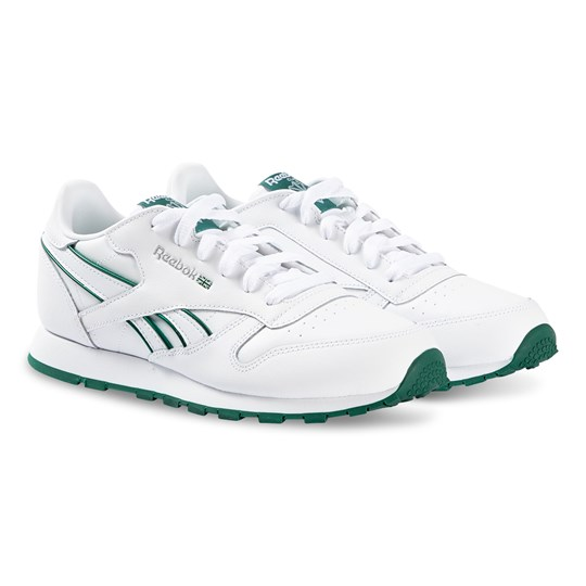 Reebok Classic Leather Sneakers White and Green CLOVER GREEN/WHITE
