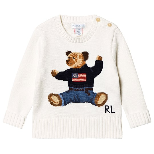 Ralph Lauren Bear Sweater Polo Knit Cream BedCxoWr