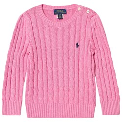 Ralph Lauren Cable Knit Sweater Rose Heather