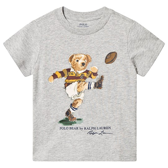 Ralph Lauren Rugby Bear T-Shirt Grey 001