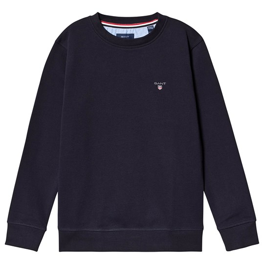 GANT Navy Small Shield Crew Neck Sweatshirt 433