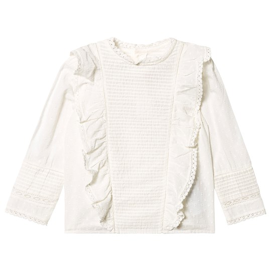 Bonpoint Anglaise and Broderie Blouse White 002