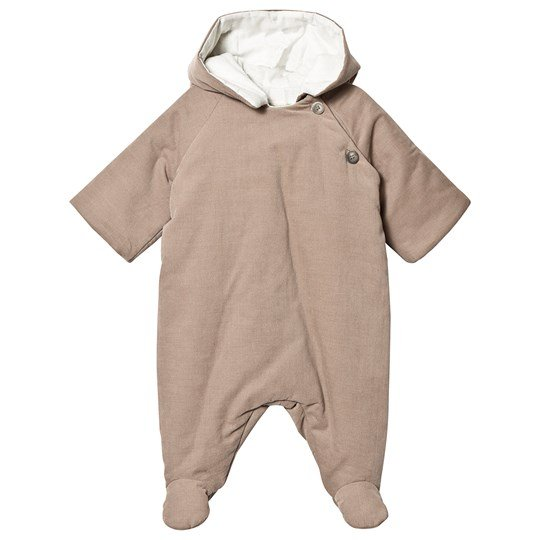 Bonpoint Padded Onesie Taupe 062
