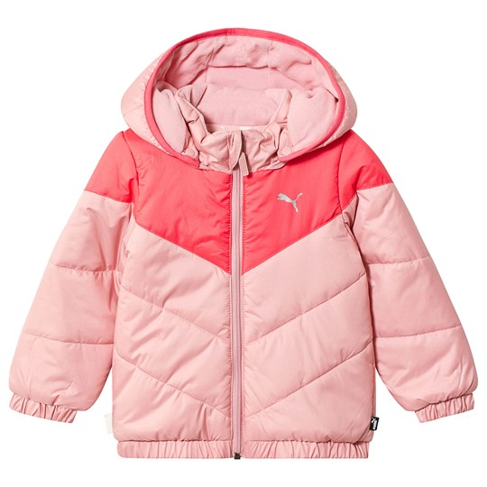 Puma Minicats Padded Jacket Pink Bridal Rose