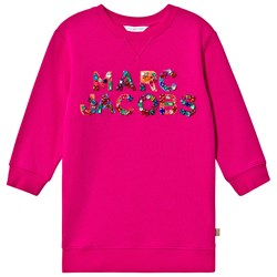 The Marc Jacobs Jewel Embroidered Sweat Dress Pink