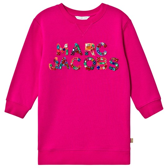 Little Marc Jacobs Jewel Embroidered Sweat Dress Pink 490