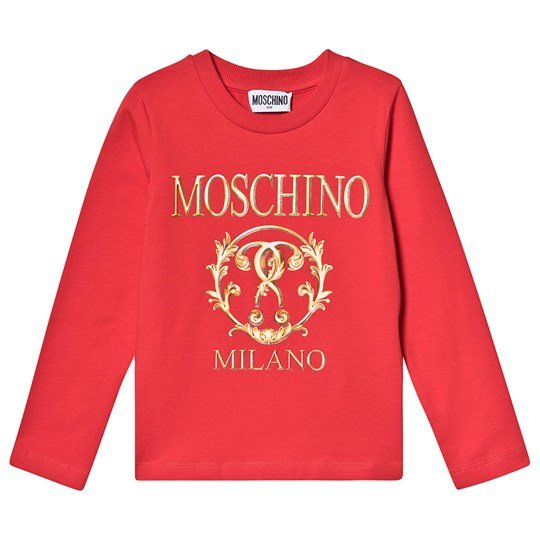 Moschino Kid-Teen Milano Tee Red and Gold 50109