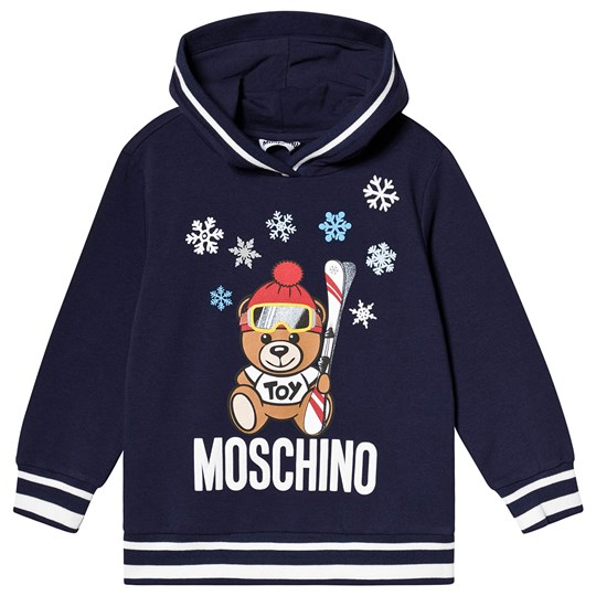 Moschino Kid-Teen Ski Bear Hoodie Navy 40016