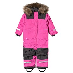Didriksons Björnen Coverall Plastic Pink