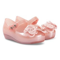 Mini Melissa Mini Flower Shoes Pink Glitter