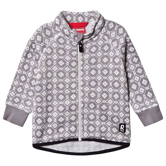 Reima Ornament Fleece Jacket White White