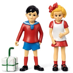 Image of Pippi Långstrump Tommy and Annika Figure Set 3+ years (1451918)
