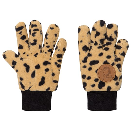Mini Rodini Fleece Gloves Beige Beige