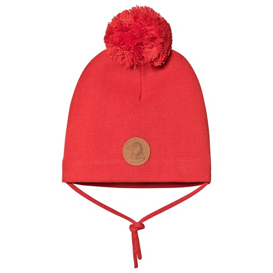 Mini Rodini Penguin Hat Red Red