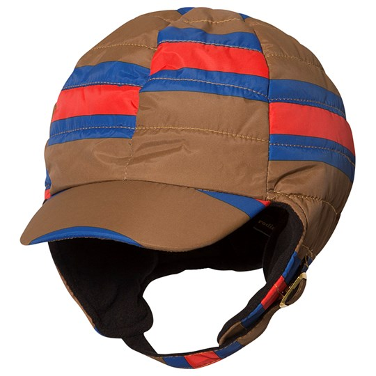 Mini Rodini Insulator Stripe Cap Brown BROWN