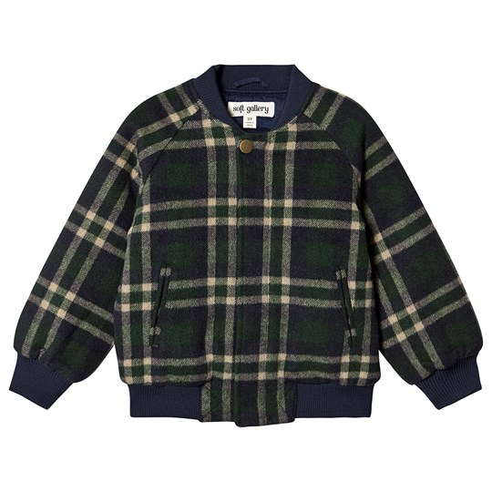 Soft Gallery Early Jacket Check Blue/Green BW Check