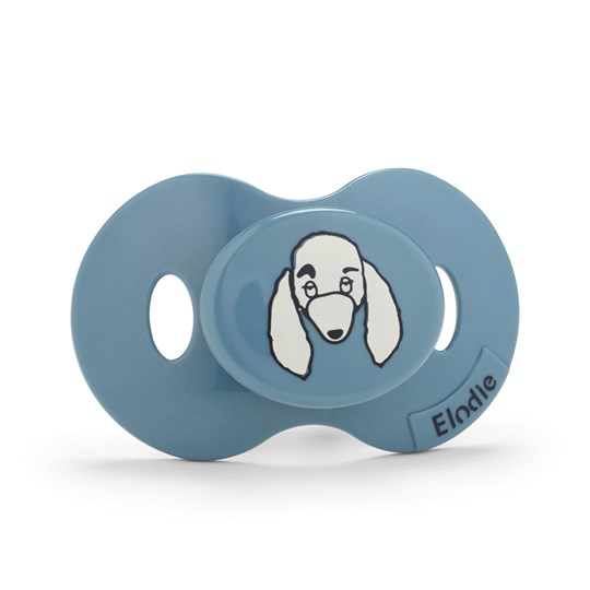 Elodie Rebel Poodle Paul Pacifier Dusty Blue Dusty Blue/white