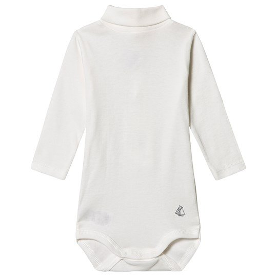Petit Bateau Turtleneck Baby Body Marshmallow White MARSHMALLOW