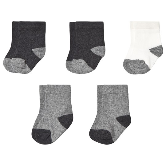 Petit Bateau 5-Pack Socks Grey CITY CHINE