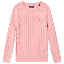 GANT Cable Knit Sweater Pink