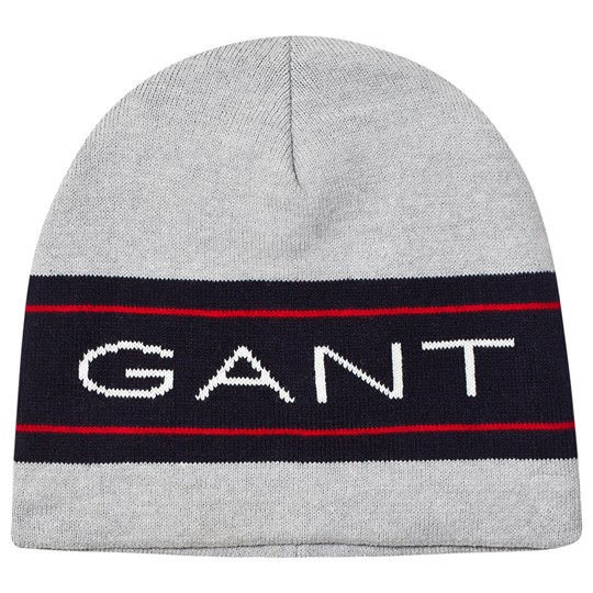 GANT Archive Knit Beanie Grey & Navy 94