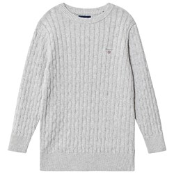 GANT Cable Knit Sweater Grey