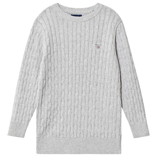 GANT Cable Knit Sweater Grey 94