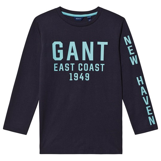 GANT East Coast Long Sleeve Tee Navy 433