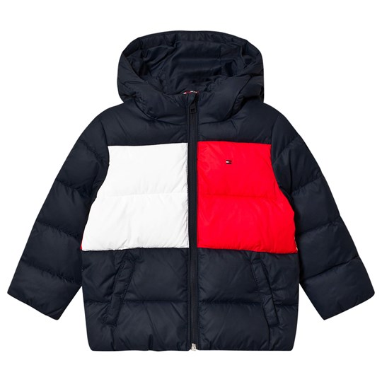 Tommy Hilfiger Color Block Padded Jacket Navy CBK