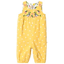 Frugi Willow Broderad Manchester Hängselbyxa Bumble Bee Spot/Finches