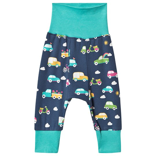 Frugi Parsnip Pants Space Blue Rainbow Roads Space Blue Rainbow Roads