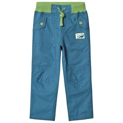 Frugi Adventure Roll Up Pants Steely Blue