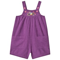 Frugi Peggy Corduroy Overalls Amethyst/Finch Floral