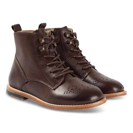 Young Soles Buster Boots Dark Brown Dark Brown Burnished Leather