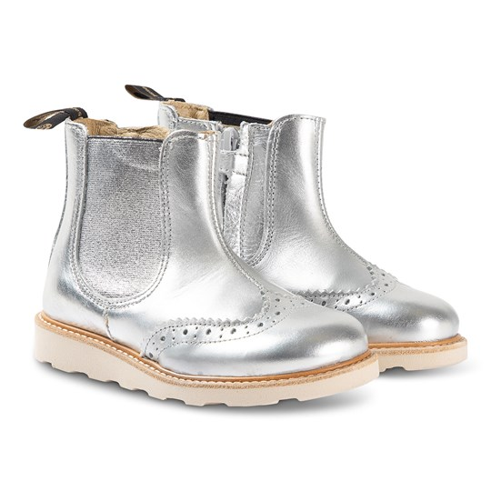 Young Soles Francis Boots Silver SILVER LEATHER