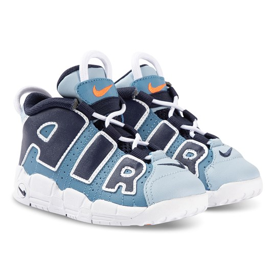 Air More Uptempo Infant Sneakers Aegean Storm and Blackened