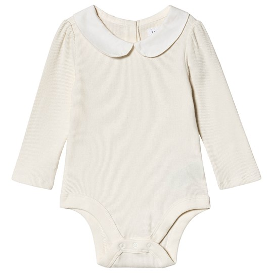 GAP Ribbed Collar Baby Body Ivory Frost IVORY FROST