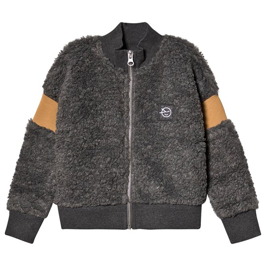 Wynken Teddy Fleece Bomberjacka Grå CHARCOAL FUR