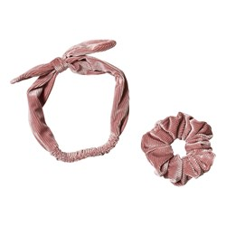 Ciao Charlie Manchester Scrunchie & Hårband Set Dusty Pink