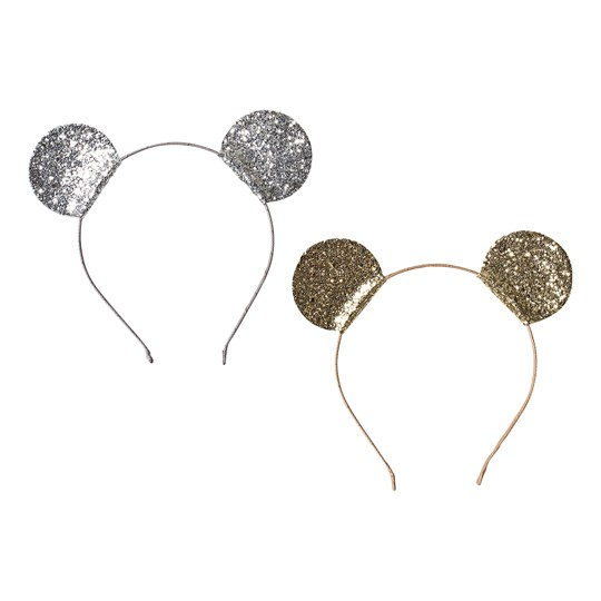 Ciao Charlie 2-Pack Mouse Headbands Silver/Gold