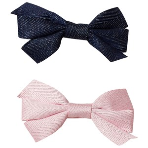 Image of Ciao Charlie 2-Pack Hair Bows Navy/Light Pink One Size (1389448)
