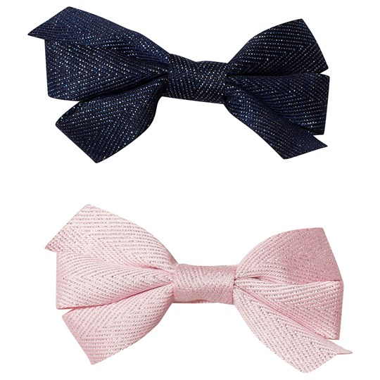 Ciao Charlie 2-Pack Hair Bows Navy/Light Pink