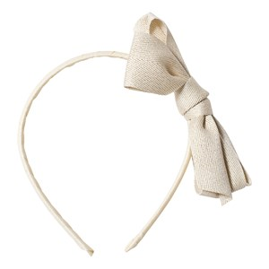 Image of Ciao Charlie Glitter Bow Headband Cream One Size (1389452)